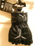 Tourmaster Cold-tex 3.0 Menand039s Black Motorcycle Gloves Size Medium New