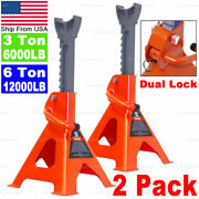 3t / 6t Heavy Duty Jack Stands With Dual Locking For Car Truck Tire Change Lift