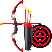Ninja Bow And Arrow Set For Kids With Led Flashing Lights - Archery Crossbow Toy