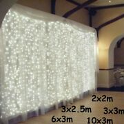 Led Icicle String Lights Christmas Fairy Garland Indoor Outdoor Home Lights