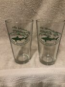 2 Dogfish Head Pint Glass Glasses 16 Oz Off Centered Ales Bx