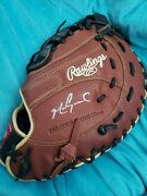 Mark Grace Autographed Baseball Glove L@@k Great Xmas Gift Cubs Great