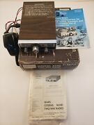 Vintage Sears Citizen's Band 23 Ch Cb Two-way Radio + Mic Box And Original Books