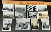 Lot Of 12 Wwii Photos 333rd Engineers Church Buildings Bombed City Germany 39