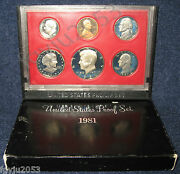 Lot Of 10-1981-s Us Mint Proof Set With Susan B. Anthony Dollar.
