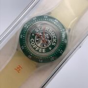 Swatch X Starbucks Coffee 5th Anniversary Watch Limited Edition 2001 New Japan