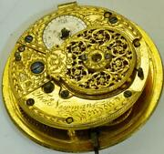 Antique Thomas Newman Verge Fusee Pocket Watch Movement.a Project For Repair