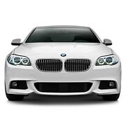 For Bmw M5 10-17 Mtek Style Front Bumper W Mesh Grille And Fog Lights Unpainted