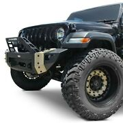For Jeep Wrangler 18-20 Ultima Series Mid Width Raw Front Winch Hd Bumper