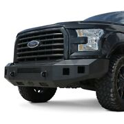 For Ford F-150 15-17 Steelcraft Fortis Full Width Textured Black Front Hd Bumper