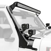 For Jeep Gladiator 20 Light Bar Kit Roof Bolt-on 52 And Four 3 348w Dual Row