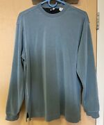 Axis Menand039s Medium - Long Sleeved Blue Shirt W/vertical Lines - Rayon/poly Blend