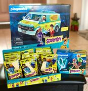 Playmobil Scooby-doo Mystery Machine + Shaggy + All 12 Ghosts In Sealed Bags
