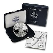 2007-w American Eagle Silver Dollar 1 Oz Proof Coin Ogp/coa-first Day Issue