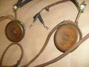 Antique Federal Telephone And Telegraph Co. Headphones 53-w 2200 Ohmcrystal Radio