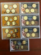 Presidential Dollars 2007 - 2013 S Proof Set 28 Coins No Boxes Or Coa's.