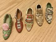 Collectible Miniature 5 Vintage Look Beatifull Shoes