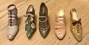 Collectible Miniature Stunning 5 Peaces Shoes With Crystal