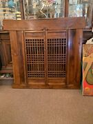 Amazing Large Antique Wood Chinese Asian Shutter Door 64andrdquo Wide X 59 Tall