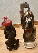 """Collectible Dog Decanters """"headache"""" And Musical """"the Last Shot"""" Rare"""