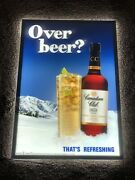 Canadian Club Whisky Back Bar Beer Light Up Led Sign Snowcap Mountains Canada