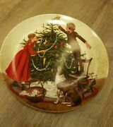 Vtg Christmas Edwin Knowles Collector Plate China Spaulding Trimming Tree Rare
