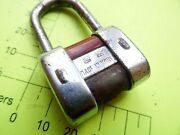Collectible Vintage Iron And Brass Old Padlock Army Padlock Cold War