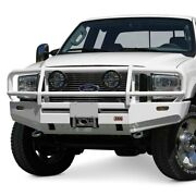 For Ford F-250 Super Duty 99-03 Bumper Deluxe Full Width Raw Front Winch Hd