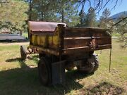 Vintage Hercules Dump Bed And Federal Truck Frame.