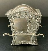 Antique Sterling Silver Playing Card Holder 3.5 Must See