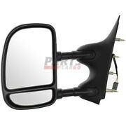 New Towing Mirror Lh Fits 2002-2008 Ford E-350 Super Duty Fo1320237 7c2z17683ca