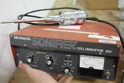 Branson Sonifier Cell Disruptor 200 Model W-200p With Converter Sonicator
