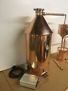 20 Gallon Copper Moonshine Still With Gin Basket-200 Volt Pid Electric System