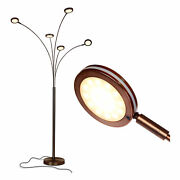 Brightech Orion 5 Led Bright Standing Touch Sensor Floor Lamp, Bronze Used