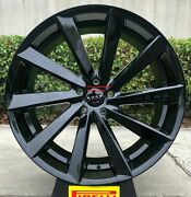 22and039and039 Inch Giovanna Kapan Gloss Black Tires Fit Porsche Macan Bmw X5 X6 5x112