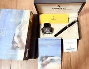 Delta Romeo And Juliet Forever Black Nib 14k M Fountain Pen With Box