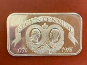 1976 Bicentennial 1 Troy Oz 999 Silver Bar From The Madison Mint Washington/ford