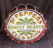 The Beatles Sgt. Peppers 22 Drum - Full Drum Or Wall Hanger