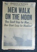 1968 July 21 Ny Daily News Newspaper Vg 4.0 Men Walk On The Moon Neil Armstrong