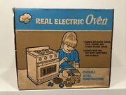 Vintage Junior Chef Sears Real Electric Oven Steel Construction Brand New In Box