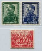 Germany Ddr Democratic Republic 1951 Chinese Friendship Mao 82-84 Perfect Mnh