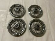 Pontiac Wire Hubcaps Spoke Wheel Covers Set Of 4 Hub Caps And Emblems 1978-1987