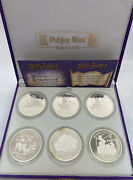 2001 Harry Potter Isle Of Man Proof 1 Crown .925 Sterling Silver 6-coin Set