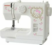 Janome Sanrio Hello Kitty Electric Sewing Machines Compact Kt-35 From Japan New