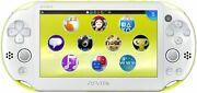 Playstation Vita Wi-fi Model Lime Green / White Pch-2000za13 From Japan New