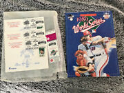 1989 World Series Program, Game 4 Ticket And Game 4 Usps Commemorative Postcards