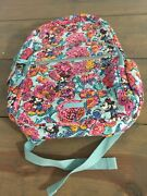 Nwt Disney Vera Bradley Mickey's Colorful Garden Iconic Campus Backpack 2020 New