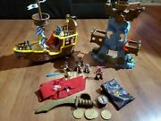 Jake And The Neverland Pirates Lot Figures, Ship, Castle, Gold, Compass 2011