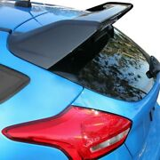 For Ford Focus 12-18 St-style Carbon Fiber Rear Roof Spoiler W Wicker Bill