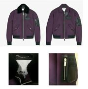 Nwt Berluti 48 Cotton Bomber With Removable Shearling Collar